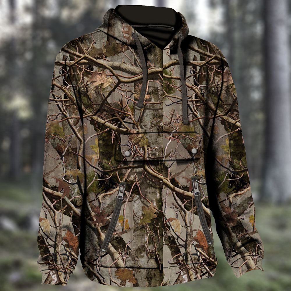 Percussion Hooded Camo Sweatshirt