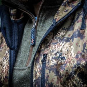 verney carron wolf jacket close up