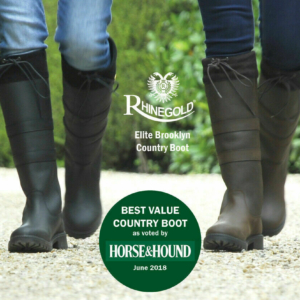 Rhinegold Elite Brooklyn Long Leather Yard Country Boots