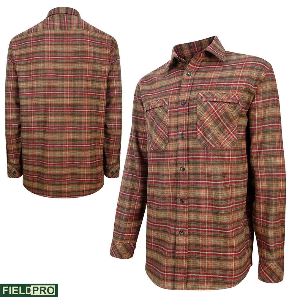 Hoggs Of Fife Countrysport Shirt in rust check