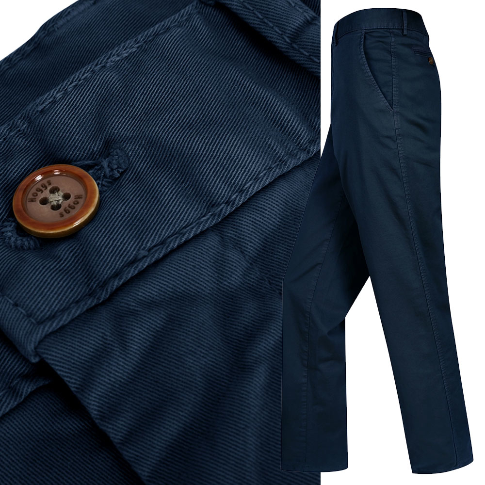 hoggs of fife chino jeans in navy blue