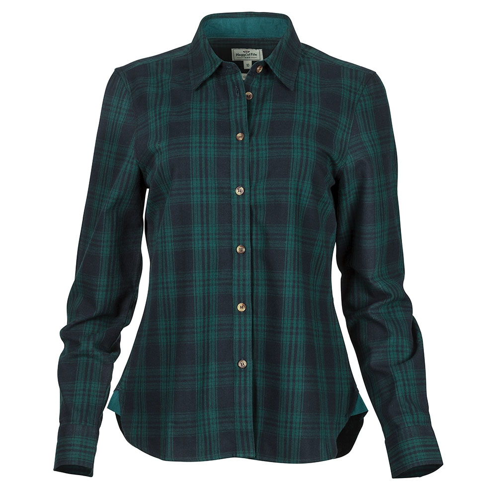 Hoggs Of Fife Beth Ladies Cotton Long Sleeved Shirt