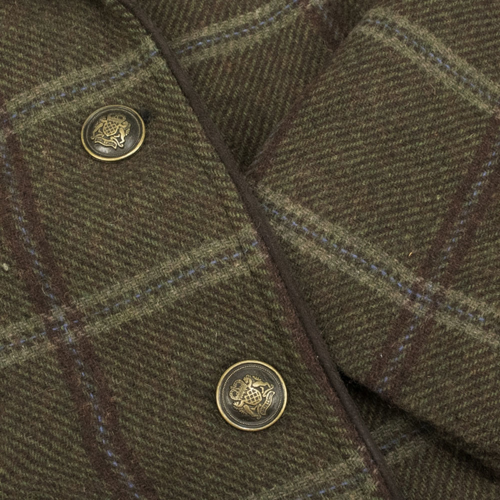 Hoggs of Fife Musselburgh Ladies Tweed Hacking Jacket Close up