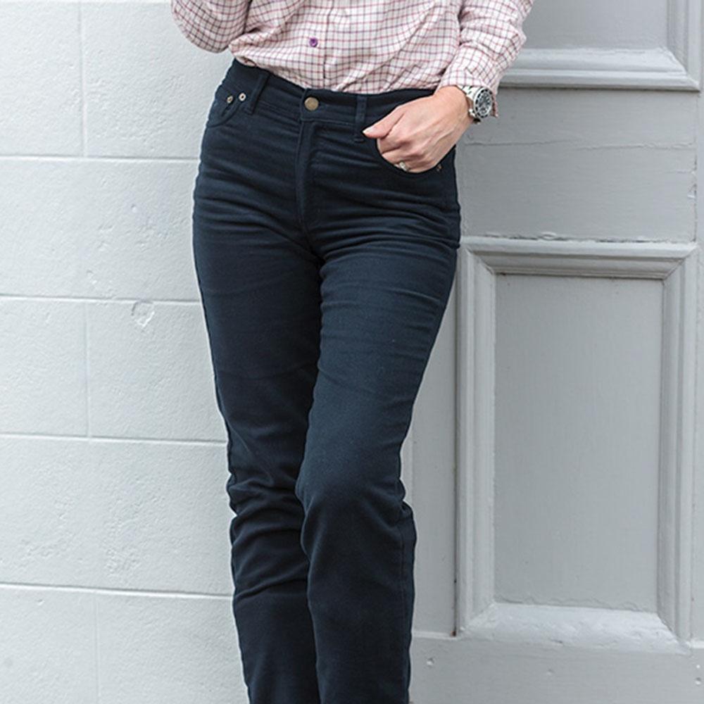 Ladies Straight Leg Stretch Moleskin Jeans