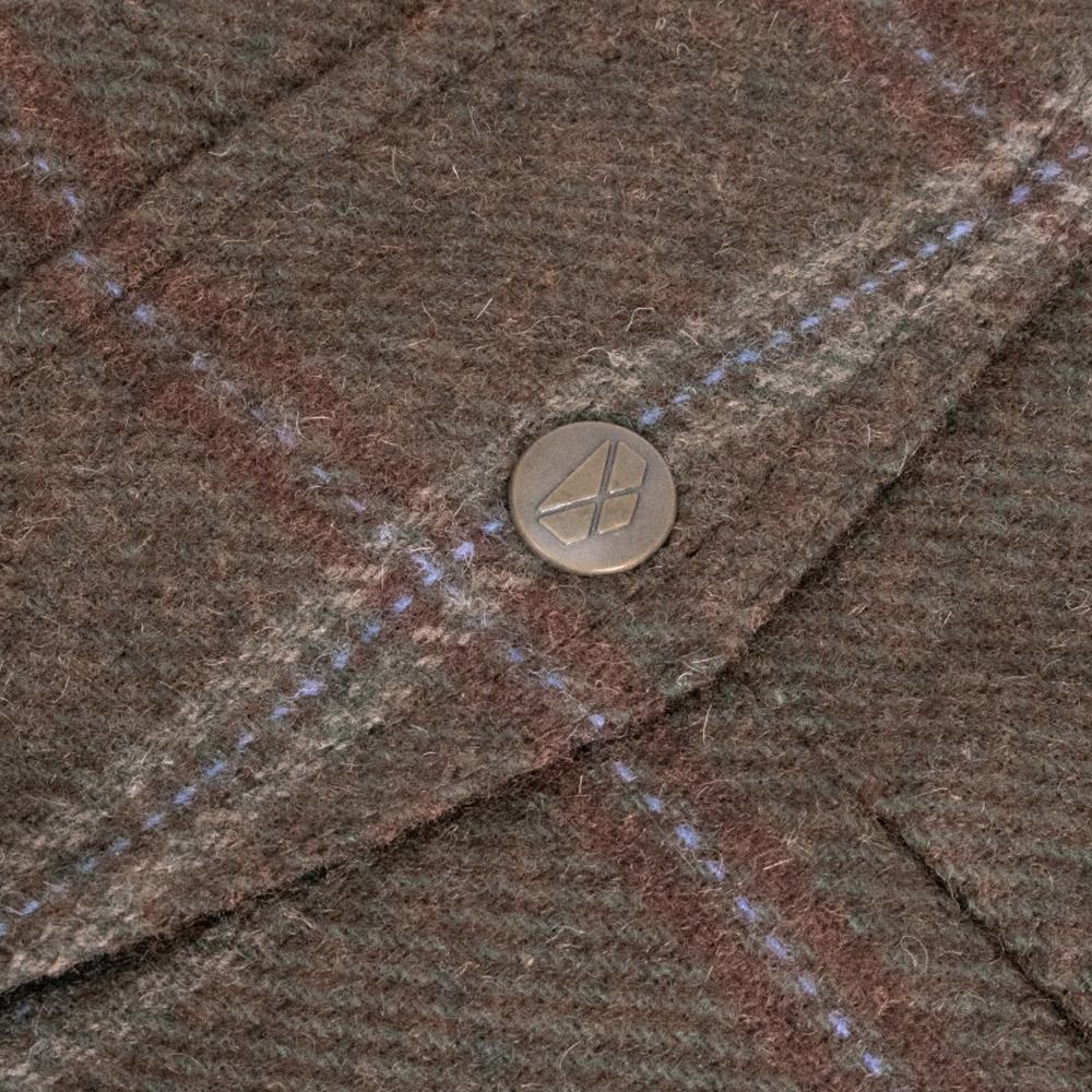 Musselburgh Ladies Tweed Field Coat close up details