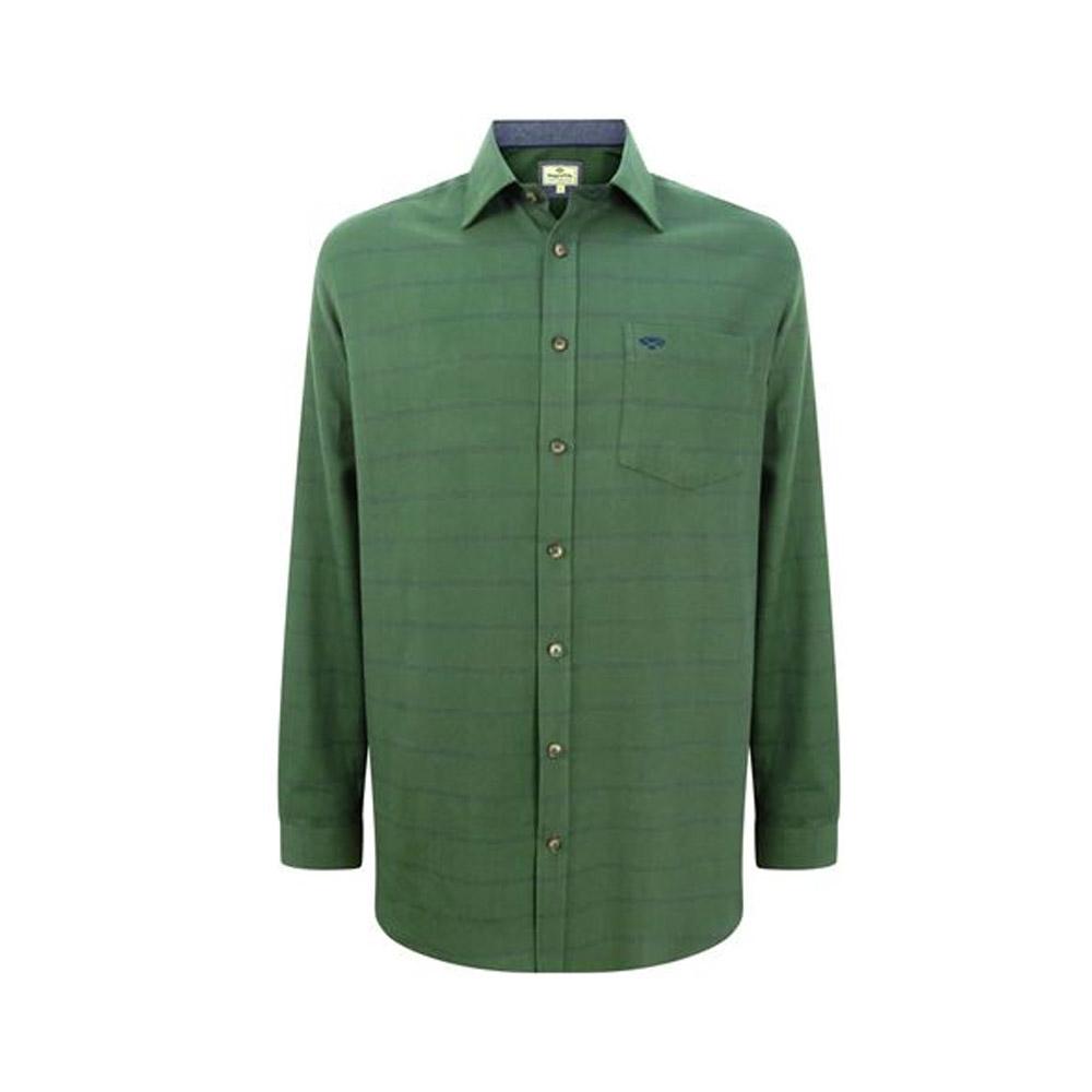 Shetland check shirt in green
