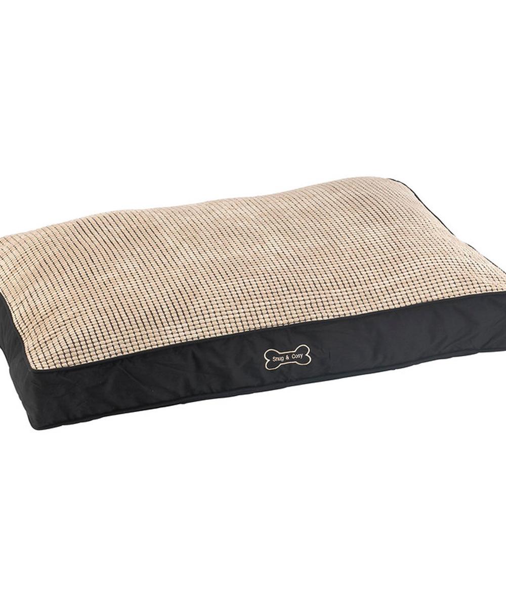Snug and cozy dog cushion bed