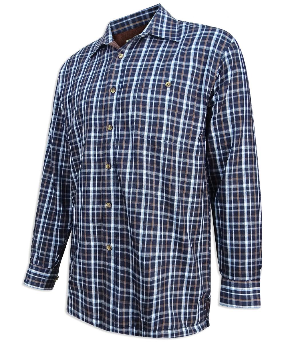 Hoggs of Fife Bark Micro Fleece Lined Shirt