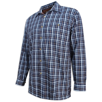 Hoggs of Fife Bark Micro Fleece Lined Shirt