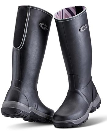 Grubs Women's Rainline Wellington Boots - Black